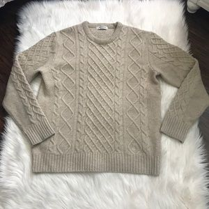 Men's Beanpole Cream Cable Knit Sweater